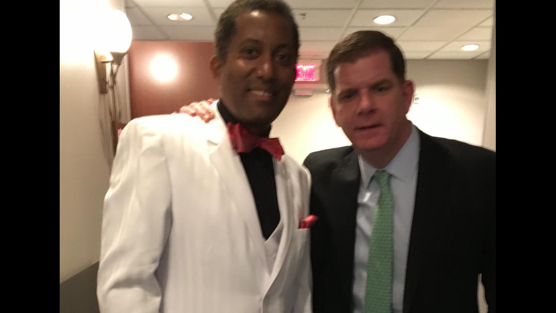 Candido Bretto and Boston Mayor Marty Walsh