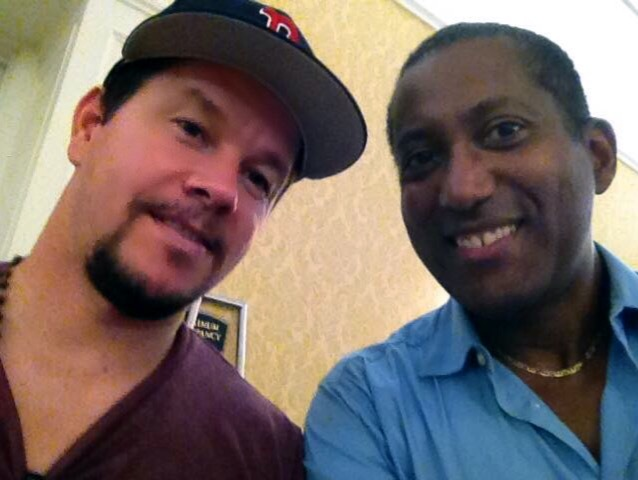 Actor Mark Wahlberg and Candido Bretto
