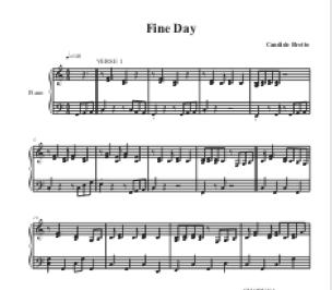 Fine Day for piano
