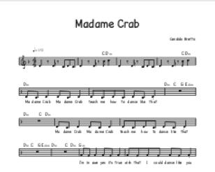 Madame Crab for guitar