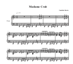 Madame Crab for piano